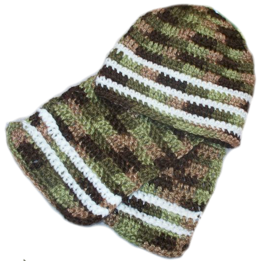 Free Crochet Pattern Hunting Hat : HAT AND SCARF CROCHET PATTERN