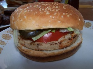 Compliments Chicken Burger