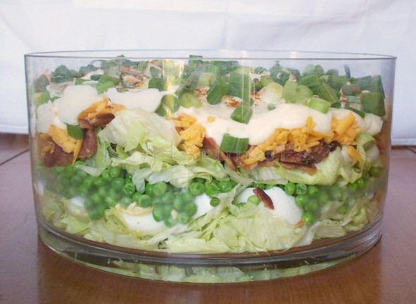layered salad so for the first time i made the layered salad and it ...