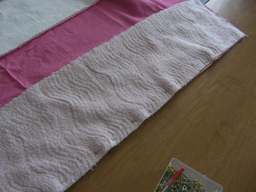 Pin strips for strip quilting