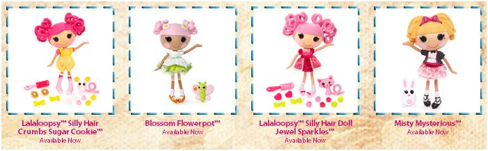 Take a look at some of the adorable Lalaloopsy dolls that are available now.